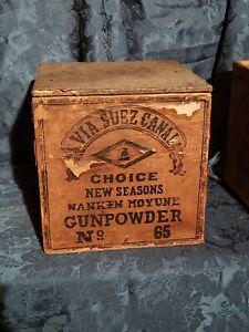 Antique-Gun-Powder-Box-VIA-SUEZ-CANAL-EXTREMELY-RARE-FIND