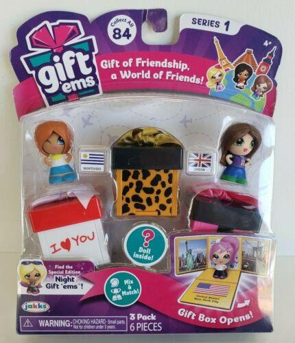 Jakks Gift Ems Series 1  3 Pack  Montevideo /& london