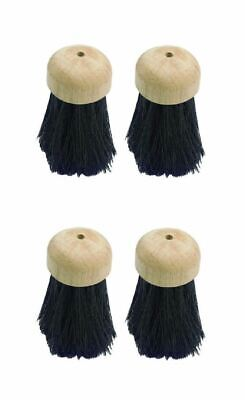 4 X Replacement Round Companion Set Hearth Fireplace Brush