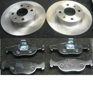 Fiat Punto 1.2 Front Grooved Drilled Brake Discs ABS