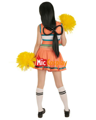 My Hero Academia Cheer Cheerleaders Cosplay Costume Dress with Cheerleading Poms