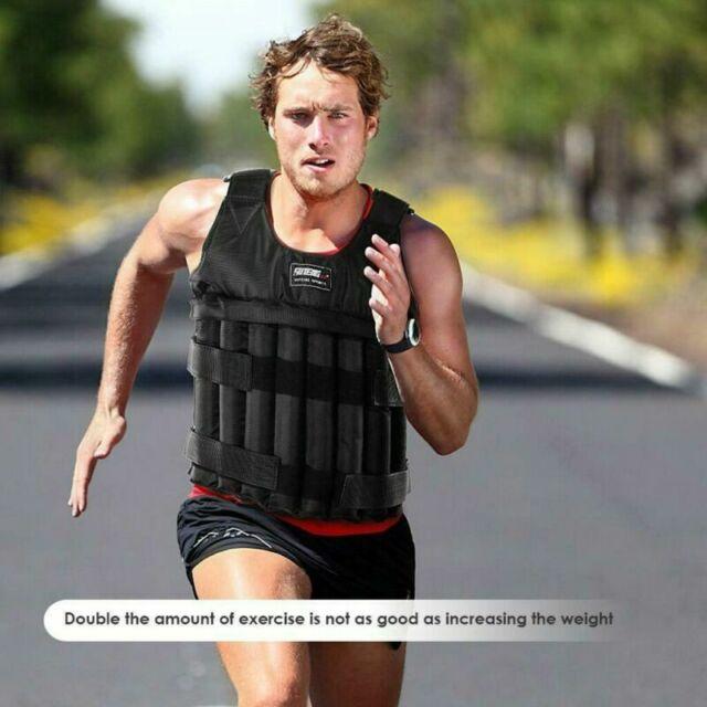 Weighted Vest Adjustable Loading Weight Jacket Exercise Boxing Training Waist