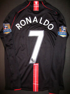 new product 66d67 a581b Details about 2007-2008 Nike Manchester United Cristiano Ronaldo Long  Sleeve Jersey Kit Shirt