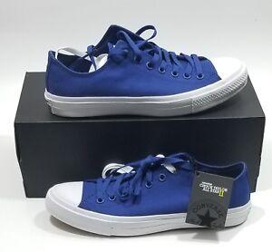 wyprzedaż w sklepie wyprzedażowym outlet na sprzedaż gładki Details about Converse All Star CT II OX Sodalite Blue White Men Size 10  With Lunarlon