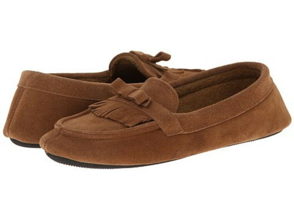 Slippers Brown Isotoner Suede 04143 Desta Misses size 6.5-7.5 M New