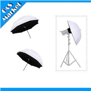 2-X-Photo-Studio-Lighting-Umbrella-Softbox-84cm-33-034-Translucent-Shoot-through