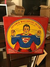 Superman Masterpiece Edition 1938 First Illustrated Toy Statue, Comic & H/C Book