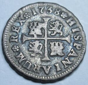 1738-Spanish-Silver-1-2-Reales-Piece-of-8-Real-Colonial-Era-Pirate-Treasure-Coin
