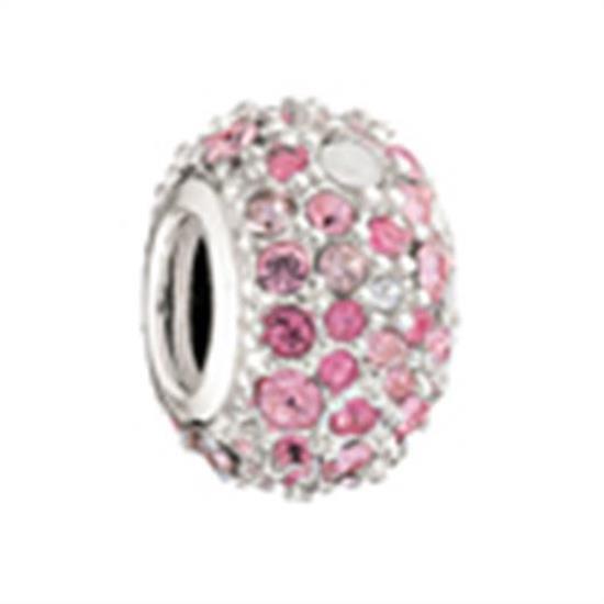 Chamilia Sterling Charm- Pink Kaleidoscope Bead