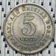 *HIGH Grade* 1961 - Malaya - 5 Cents Elizabeth II #CBRE