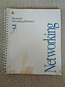 Vintag-APPLE-MACINTOSH-NETWORKING-REFERENCE-SYSTEM-7-MANUAL-030-3936-A-Computer