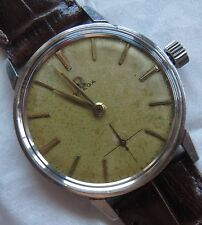 Omega mens wristwatch steel case screw cap load manual cal. 268
