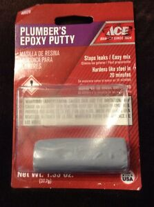 ACE PLUMBER'S EPOXY PUTTY Stop leaks! 48525 NIP!