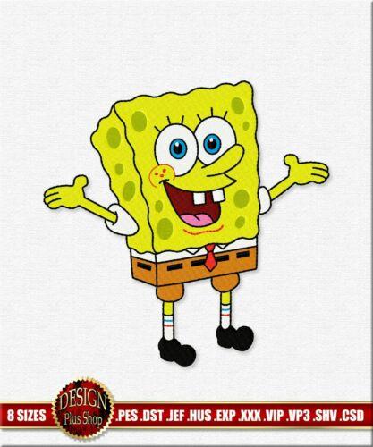 SpongeBob SquarePants Embroidery Design Digitized Machine Embroidery files PES