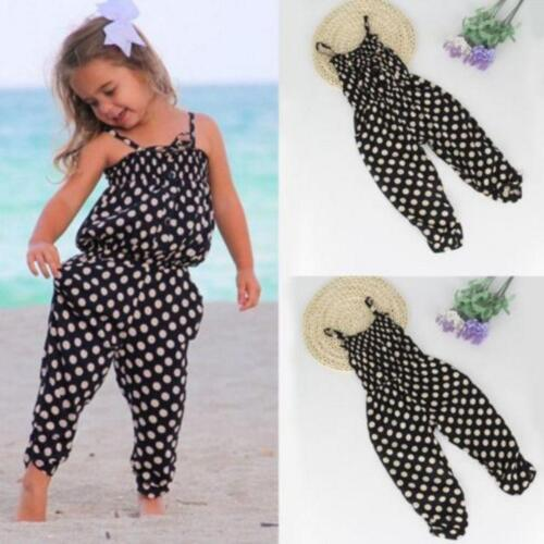 Summer Toddler Kids Baby Girl Romper Jumpsuit Harem Pants Trousers Clothes 1-7Y