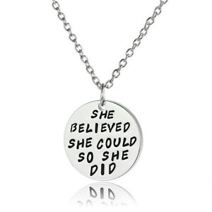 She-Believed-She-Could-So-She-Did-Silver-Plated-Chain-Pendant-Necklace-Jewelry