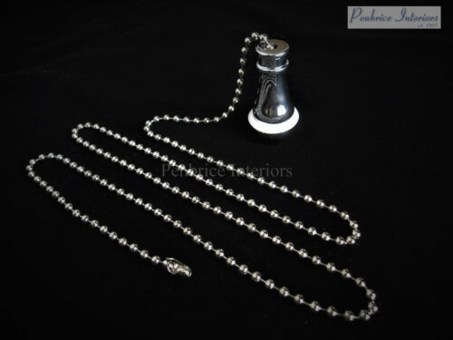 Chrome Traditional cord pull with silver non rust chain Light bathroom weight