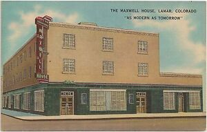 Image Is Loading The Maxwell House Hotel In Lamar Co Postcard