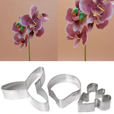 Tool Decoration Cake Fondant 3D Flower Mould Butterfly Orchid Mold Sugarcraft
