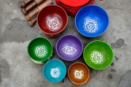 7 Chakra singing bowl set-set of 7 singing bowl-Tibetan singing bowl-Healing set