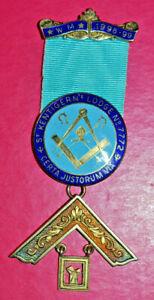 Masonic Past Master's Jewel St Kentigern's Lodge No 7772 sterling silver WM