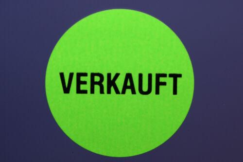 "Aufkleber /"" VERKAUFT /"" 100 Stück Etikett /"" verkauft /"""
