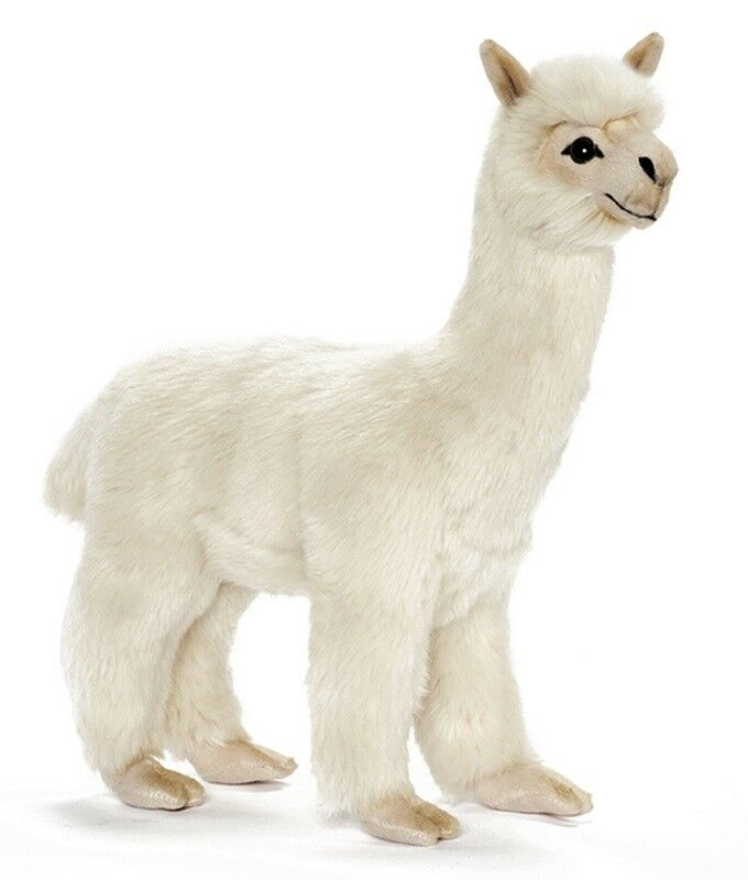 Alpaca collectable plush realistic soft toy by Hansa - 35cm - 6024