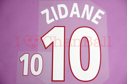 Zidane #10 2000 France Homekit Nameset Printing