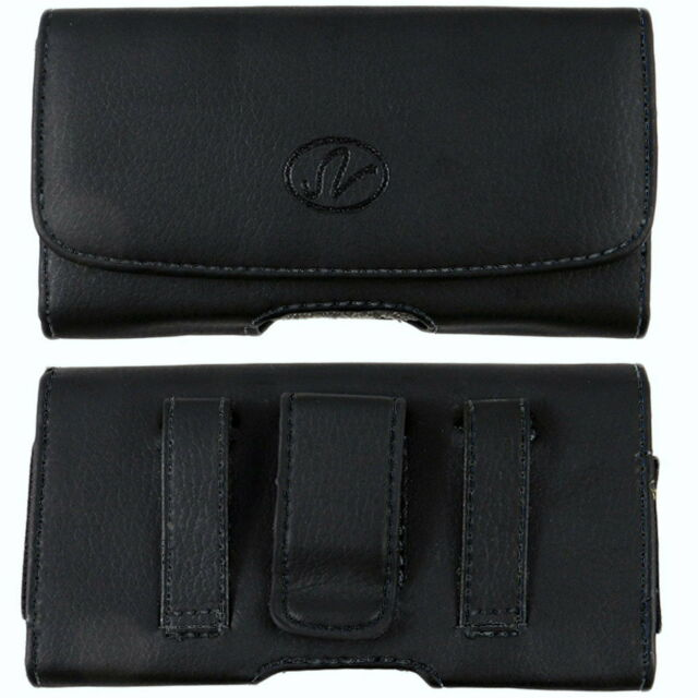 LEATHER POUCH BELT CASE FOR IPHONE 5 5S 5C IPOD TOUCH W/ OTTERBOX DEFENDER ON