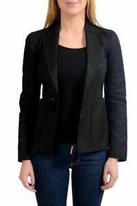 Dsquared2 Black One Button Women's Blazer US S IT 40