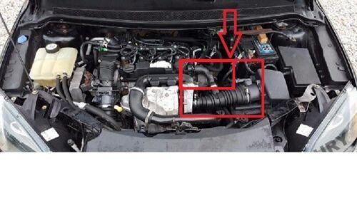 Ford C-Max Focus II 1.6 TDCi ingesta de Filtro De Aire Manguera Tubo de flujo 1336611 3M519A673MG