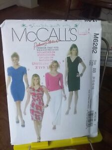 Oop-Mccalls-Palmer-Pletsch-6282-misses-stretch-knit-lined-top-dress-sz-8-14-NEW