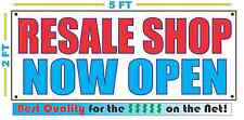 RESALE SHOP NOW OPEN Banner Sign NEW Larger Size Best Quality for the $$$