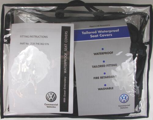 VW TRANSPORTER T6 CALIFORNIA OCEAN 2ND ROW SINGLE WATERPROOF BLACK SEAT COVER