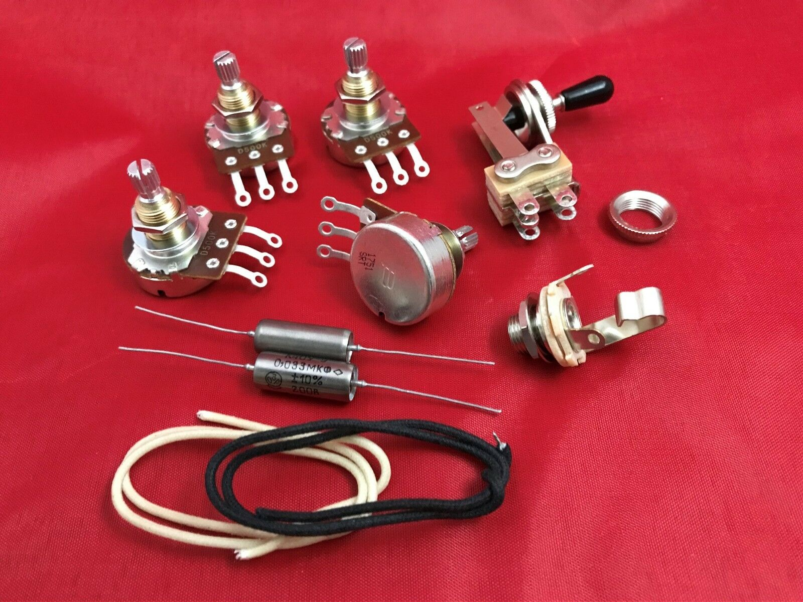 Guitar Upgrade Wiring Kit Pots PIO Tone Caps Switch Fits Gibson Epiphone SG