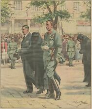 K1257 I funerali del Cancelliere Dollfuss - Stampa d'epoca - 1934 old print