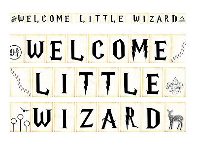 Harry Potter Inspired Baby Shower Welcome Little Wizard Bunting Coco/&Bo