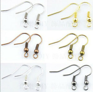 DIY-Wholesale-100Pcs-500pcs-Copper-SILVER-GOLD-PLATED-EARRING-HOOK-COIL-EAR-WIRE