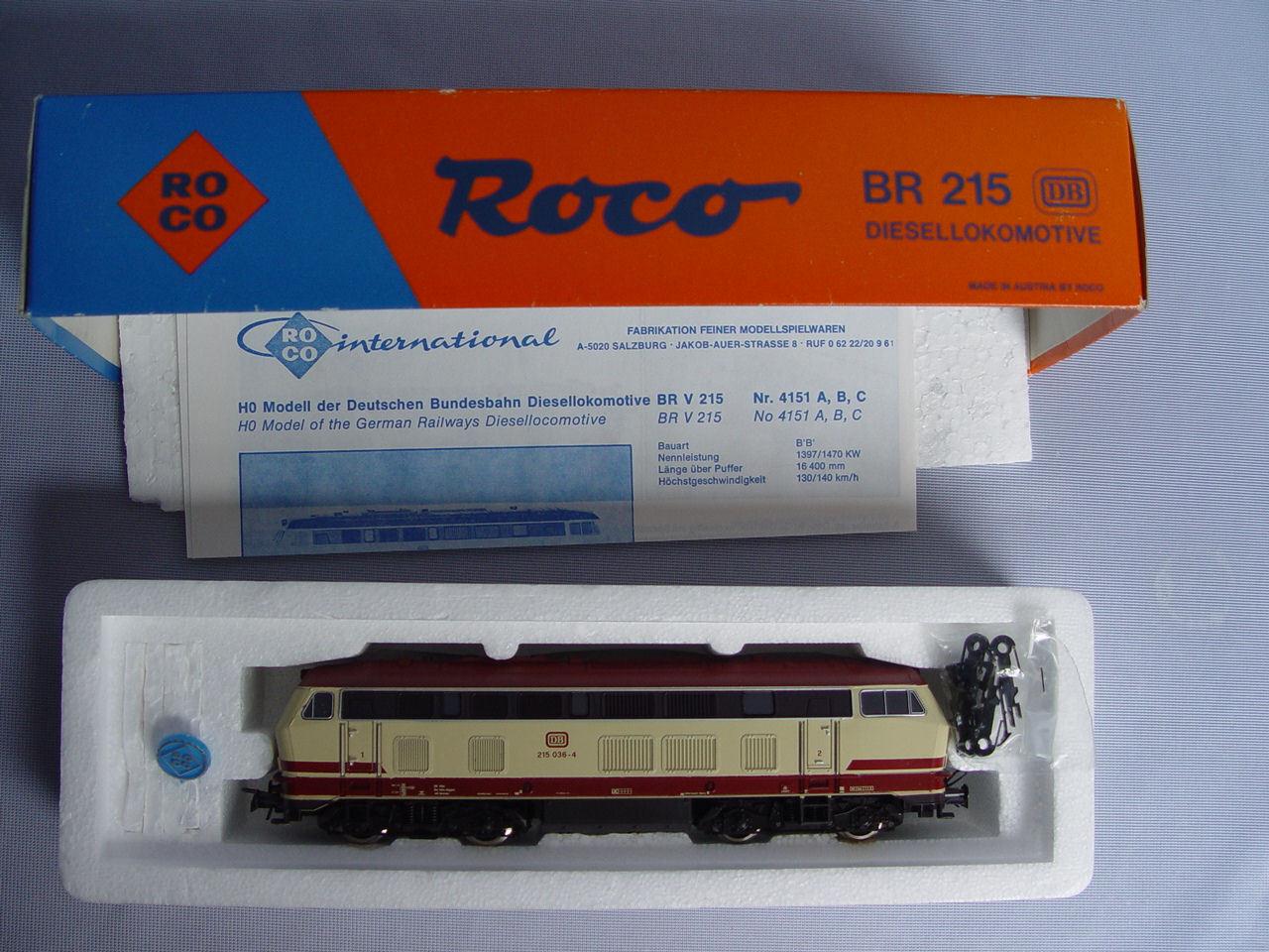 Roco h0 diesellok 04151c br 215 de la DB en OVP