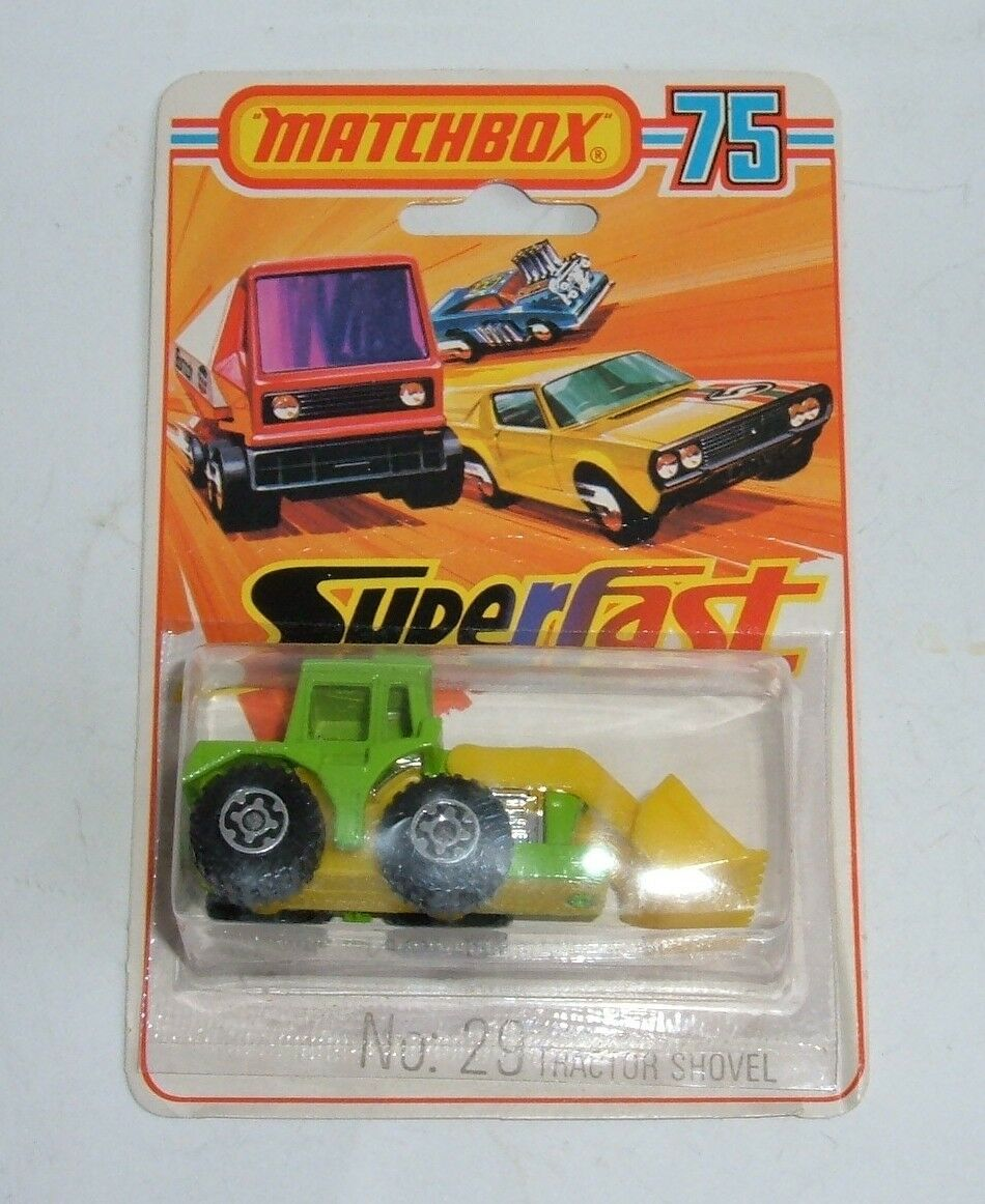 MATCHBOX SUPERFAST N ° 29, tracteur pelle, - Superbe Mint.
