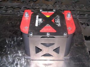Optima 75/35 Battery box mount yellow red top tray offroad - STAINLESS STEEL