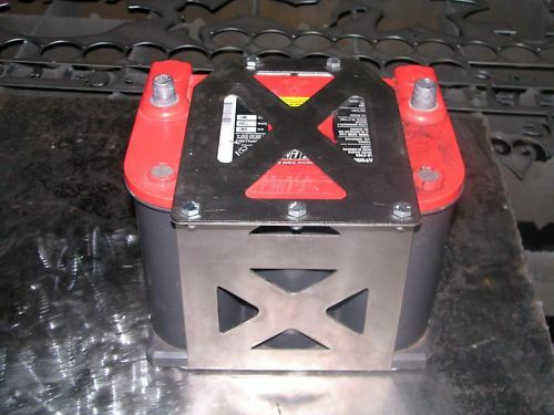 STAINLESS STEEL Optima 75//25 Battery box yellow red top tray offroad