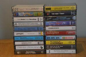 20 Cassette Tapes Job Lot Rose Royce, Roberta Flack, Chris Rea, Ray Charles etc.