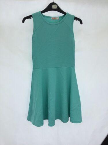 New Girls Debenhams Bluezoo Textured Green Skater Dress Age 11-12 DD64