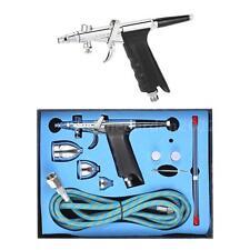 New Dual Action Gravity Feed Airbrush Gun 0.3/0.5/0.8mm Spray Art Paint Kit V1F0
