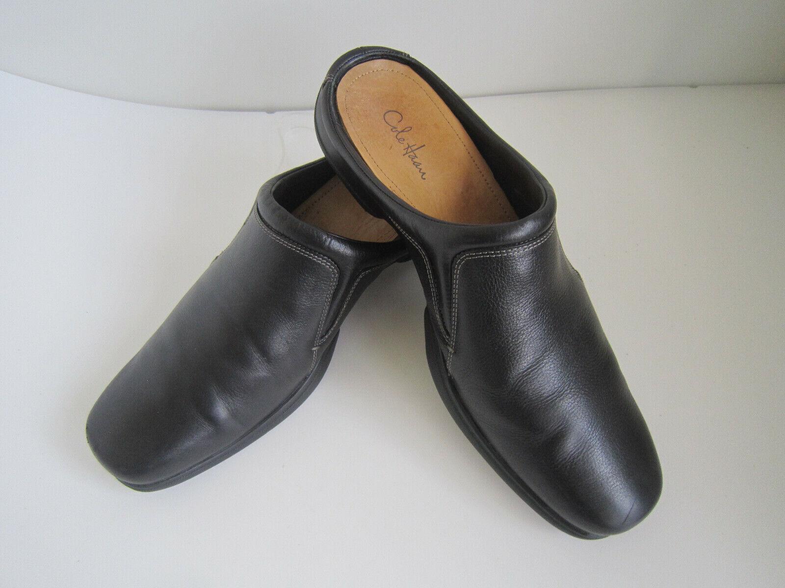 Cole Haan para hombres Cuero Negro sandalias sin talón Fáciles de poner  2