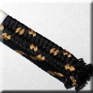 Sageo-03c-Japanese-Samurai-Sword-Tsuba-Saya-BLACK-GOLD-ONLY-5-at-this-price