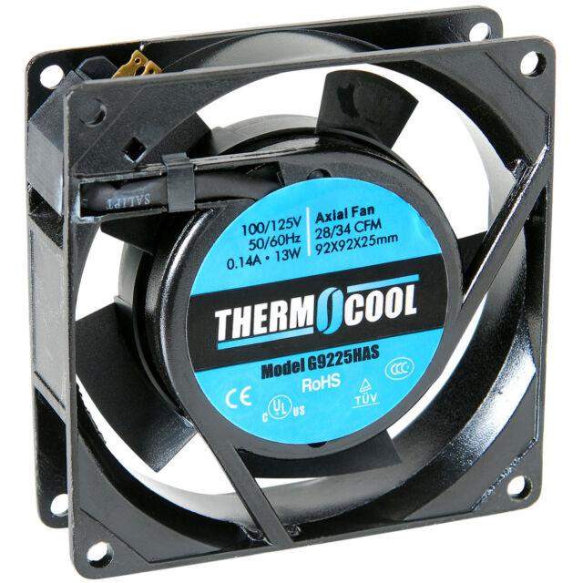 FAN AXIAL THERMOCOOL 97//122 CFM SLEEVE 110V 60Hz #G13538HAS 135X135X38mm