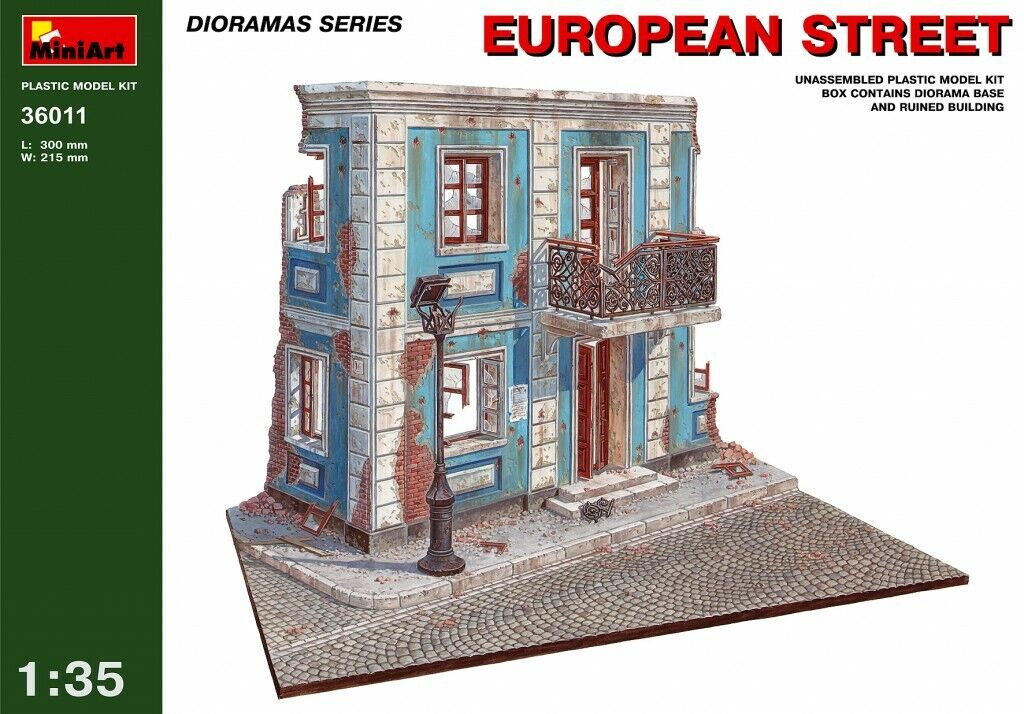Minikonst 1 35 European Street Diorama modellllerlerl Kit