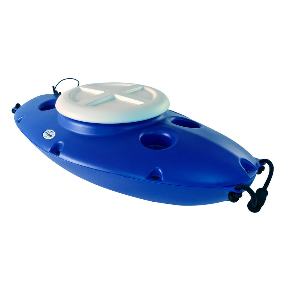 Creekkooler portátil flotante refrigerador de bebidas aislados 30 cuartos Kayak, Azul